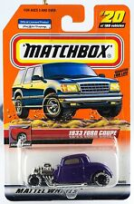 Matchbox #20 1933 Ford Coupe With MB 2000 Logo New On Card