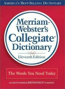 NEW-Sealed-Book-Merriam-Webster-039-s-Collegiate-Hard-Cover-Dictionary-11th-Edition