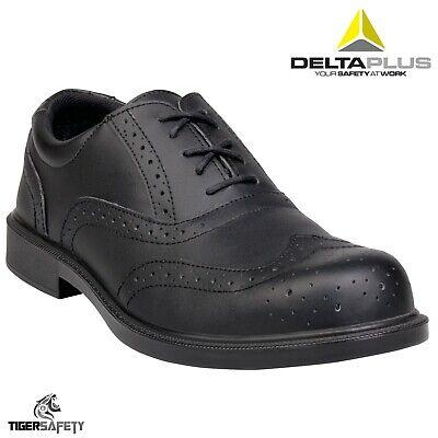 Delta Plus Richmond SRC Black Mens Composite Toe Cap Oxford Brogue Safety Shoes
