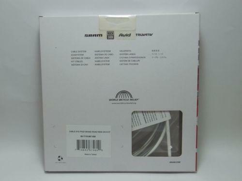 """SRAM Ride-On /""""White/"""" professional brake cable system-coated Gore"""
