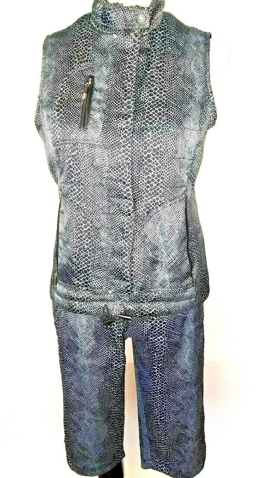 Jamie Sadock damen Snakeskin Print Vest Capri Pant Outfit Größes XS and 6