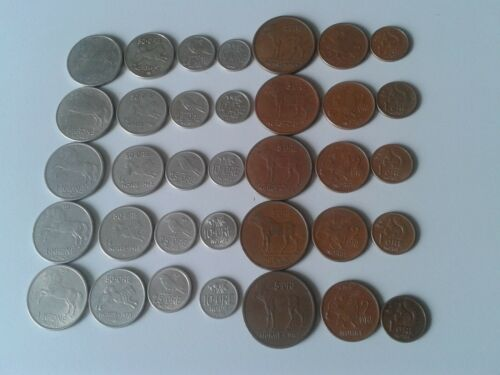 o Norway set of 7 coins 1 krone+50-1 ore animals price for one set
