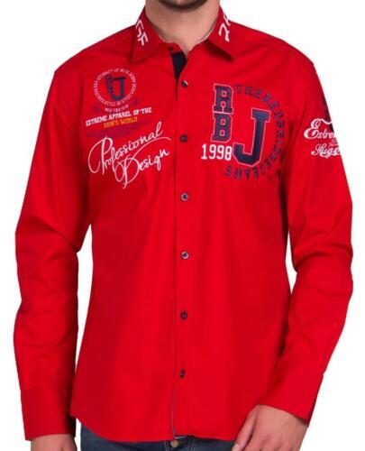 Redbridge Herren Hemd Hemden Freizeithemd Regular-Fit kurzarm Tailliert Bestickt