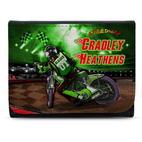 Cradley Heathens Speedway Portefeuille en cuir pour Homme Papa Cadeau Personnalisé SW28