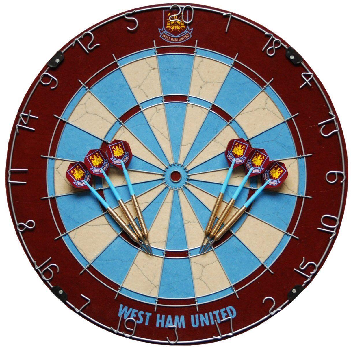 Official West Ham Dartboard & West Ham Darts Set