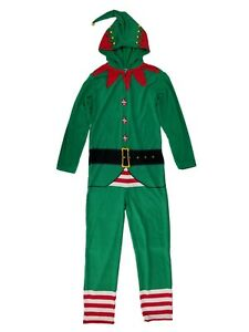Mens Christmas Pajamas.Details About Mens Christmas Elf Hooded Fleece Costume Union Suit Holiday Pajamas