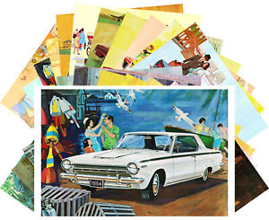 Postcards-Pack-24-cards-Dodge-Classic-Cars-Adverts-American-Vintage-CD3022