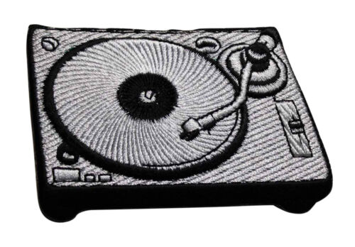 Turntable Embroidered Iron On Patch Record Player DJ Vinyl Record 148-V