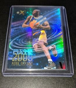 1996-97-E-X2000-Star-Date-2000-3-Kobe-Bryant-Rookie-LAKERS-RC-Refractor-RARE