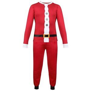 fa032c2e4750f Enfants Garçons Filles PYJAMAS Père Noël Noël Rouge Pyjama Noël ...