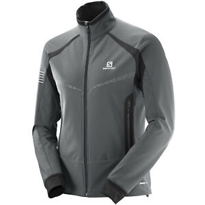 Details about Salomon Rs Warm Softshell Jacket Men's Functional Tracksuit Top mid Layer