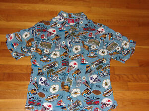 VINTAGE-NFL-SUPER-BOWL-XXXVII-SHORT-SLEEVE-HAWAIIAN-SHIRT-MENS-XL-EXCELLENT