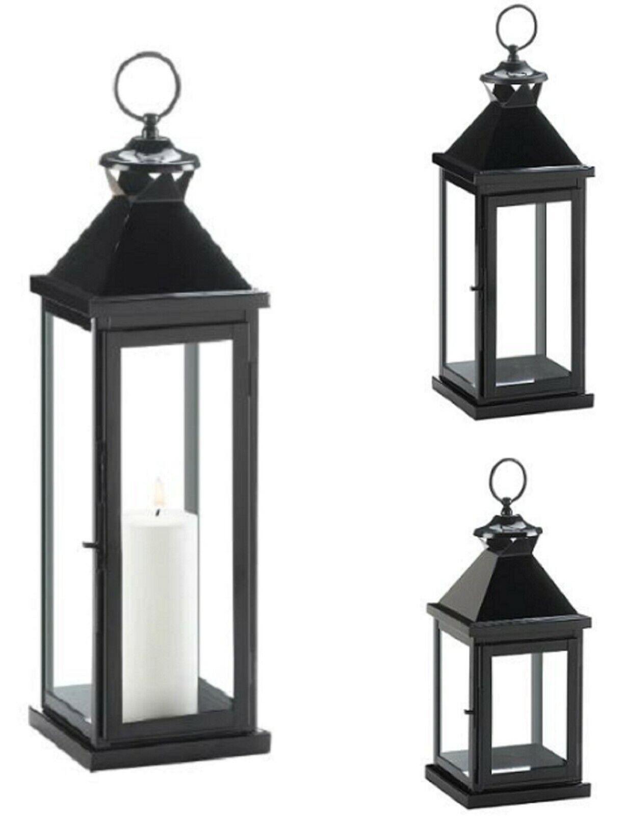 Large Lantern Lights White Decorative Hanging Outdoor Pillar Candle Lantern For Sale Online Ebay