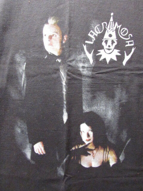 LACRIMOSA LARGE SHIRT SHIRT SHIRT 1990's ERA GOTH NEW METAL DUO 100% ALGODON BRAND NEW RARE! 7ab342