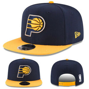 cheap for discount 81c47 58363 Image is loading New-Era-Indiana-Pacers-Snapback-Hat-Blue-Yellow-