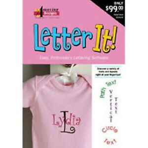 amazing designs letter it embroidery machine software ebay