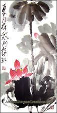 Chinese Asian Art Chinese Painting: Chinese Brush Painting - Lotus