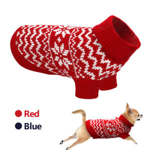 Knitted-Dog-Sweater-Small-Pet-Cat-Puppy-Jumper-Clothes-Winter-Warm-Knitwear-Coat