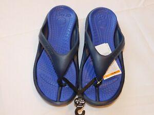 Crocs-Athens-Flip-Flops-Sandals-Thongs-10024-4EU-M-8-W-10-Navy-Blue-Cerulean-Blu