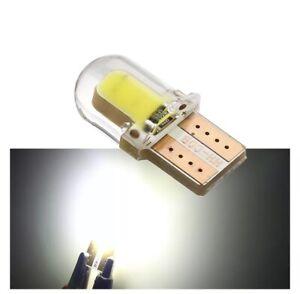 2x-Bombillas-LED-Posicion-Matricula-Interior-Blanca-Canbus-t10-w5w-8SMD-Silicona