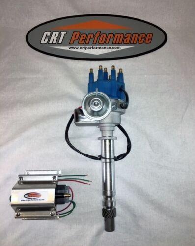 SB Chevy SBC Small Cap H.E.I HEI Distributor BLACK MALE CAP /& 60K Volt Coil