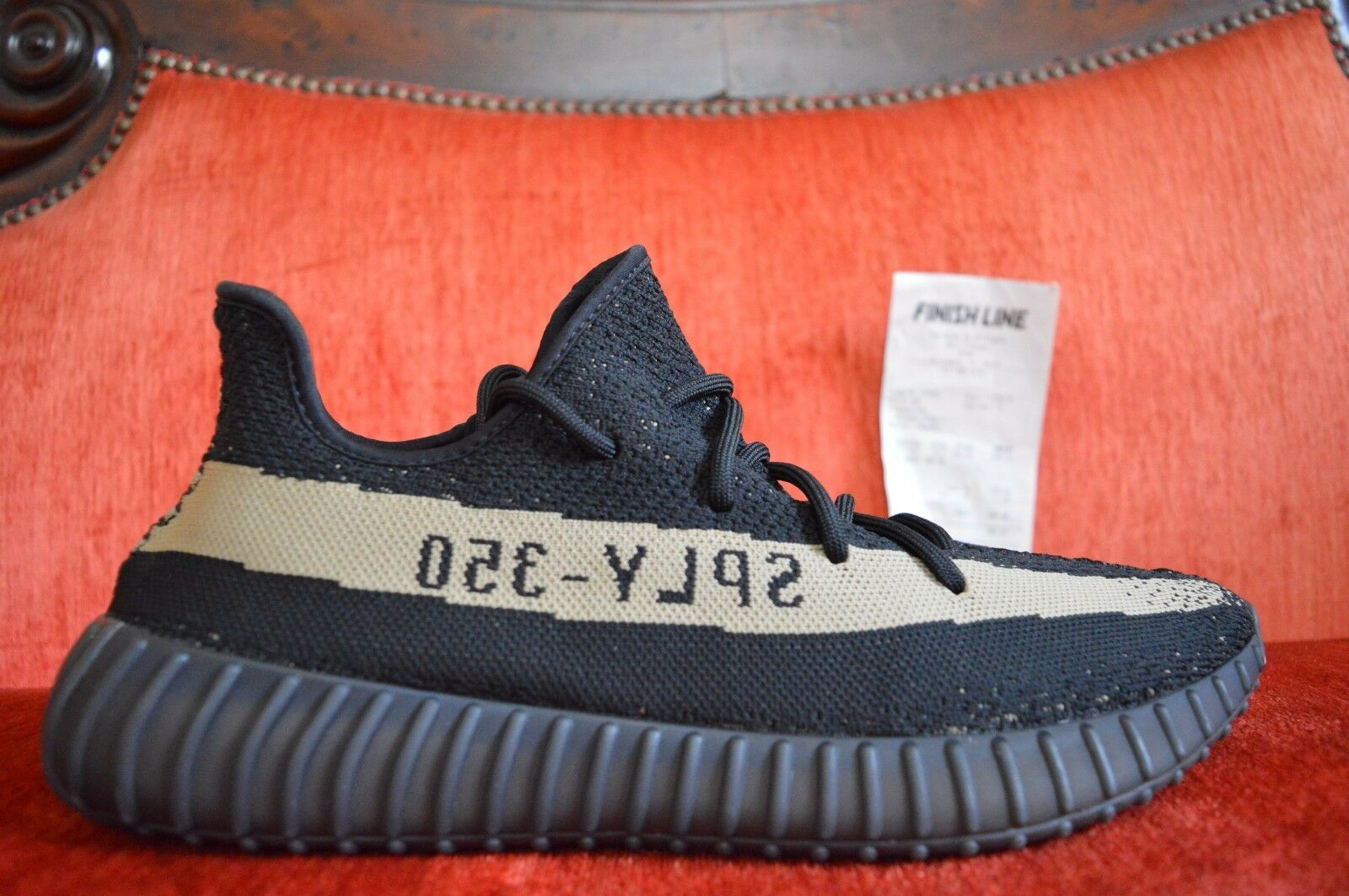26f87df3d adidas Yeezy 350 V2 Boost SPLY Kanye West Black Green Olive By9611 ...
