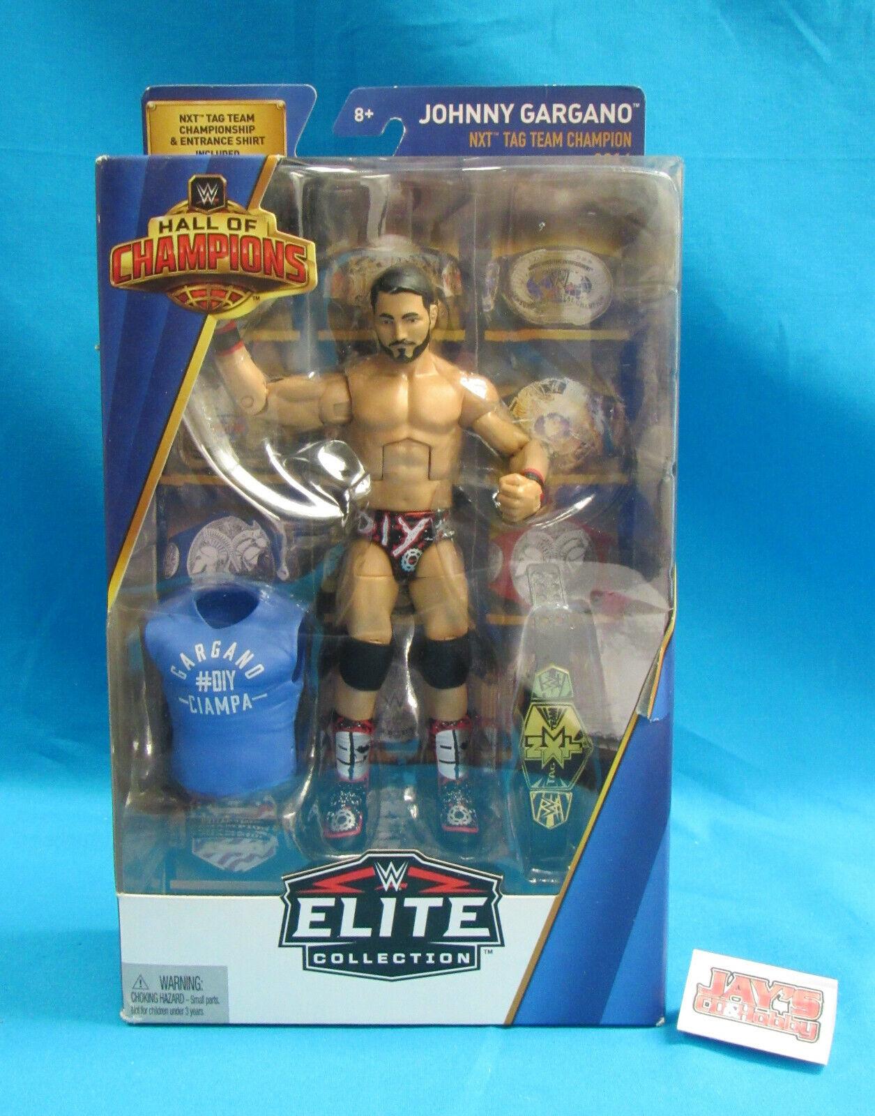 WWE Elite collezione Johnny Gargano NXT Tag squadra Champion 2017 Sealed in scatola