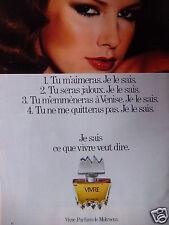 PUBLICITÉ 1978 VIVRE PARFUM DE MOLYNEUX - ADVERTISING
