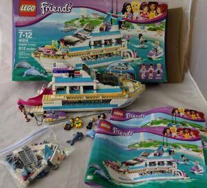 Lego Building Friend Dolphin Cruiser Ship 41015 Manuals 5 Mini Figs Box Retired