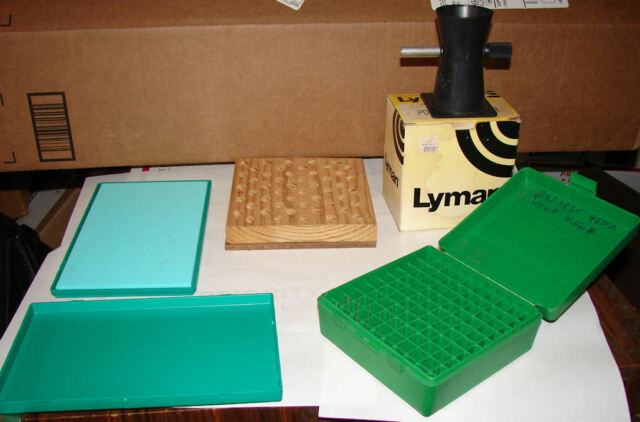 Reloading Supplies Lot Lyman Powder Dribbler, Case-Gard, RCBS Pad, Holders