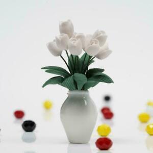 1-12-Puppenhaus-Miniatur-NEU-Pflanzen-Tulpen-Blume-mit-A1K0-Zimmer-Topf-Ker-I7W4