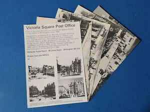 Set-of-4-Postcards-Victoria-Square-Post-Office-Birmingham-1875-1980-BT0
