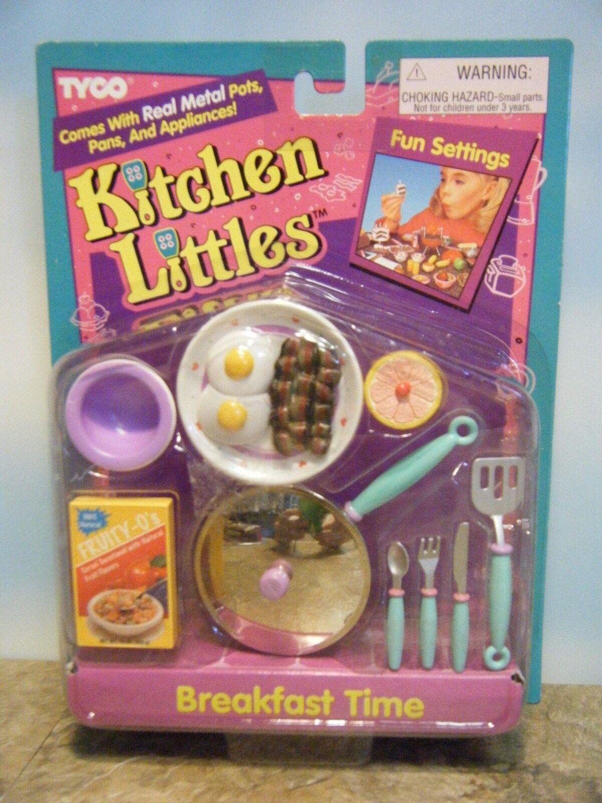Tyco Cocina Littles tocino & Huevos hora del desayuno Set  Nuevo