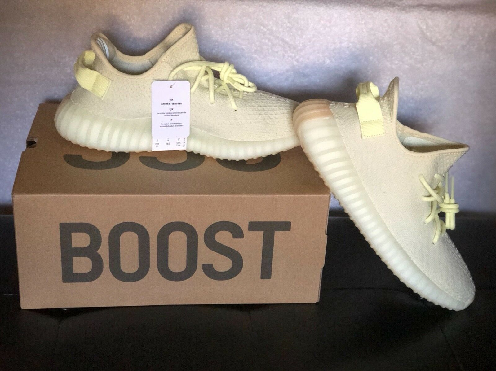 Adidas yeezy boost 350 butter size 8.5 men NEW WITH BOX