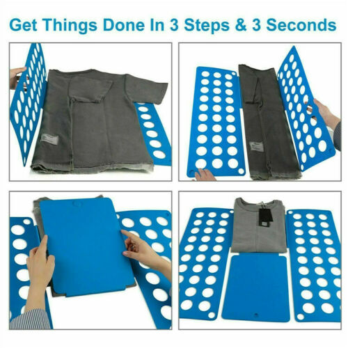 Clothes Folding Board T-Shirt Jumpers Folder Easy Fast Laundry Sizes for Kids UK