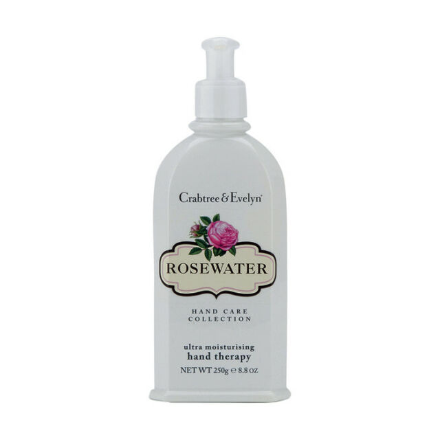 Crabtree & Evelyn Rosewater Ultra Moisturising Hand Therapy Lotion 8.8 oz NEW