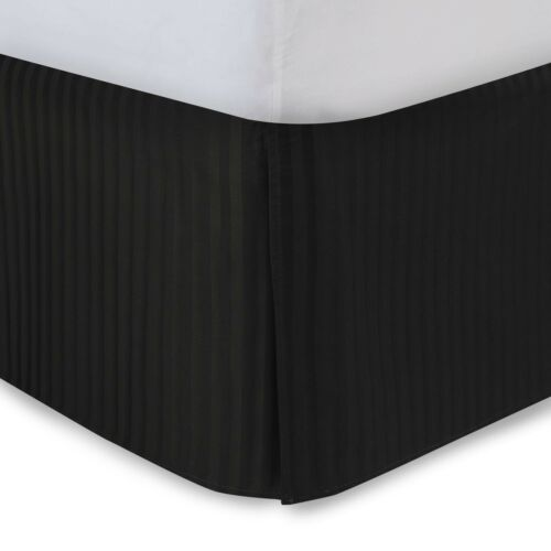 300 Thread Count FAST FREE HOLIDAY SHIPPING Sateen Stripe Tailored Bed Skirt