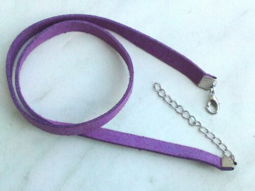 Halsband Kette Kropfband 39-43cm Velourband Kunstleder Trachtenschmuck Farbwahl