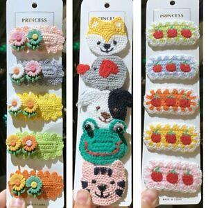5Pcs Knit Hairpin Headdress Hair Clips Girl Women Kids Hair Accessories Fashion