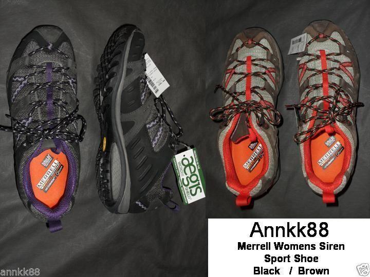 NWT Womens Merrell Siren Sport Walking shoes Black Retail  95
