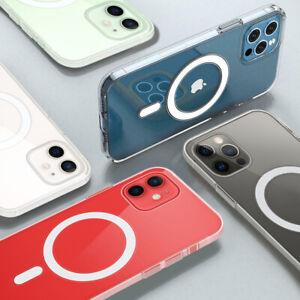 MagSafe Hülle Case für Apple iPhone 13  12 Pro  Max  Mini Magnetisch Transparent