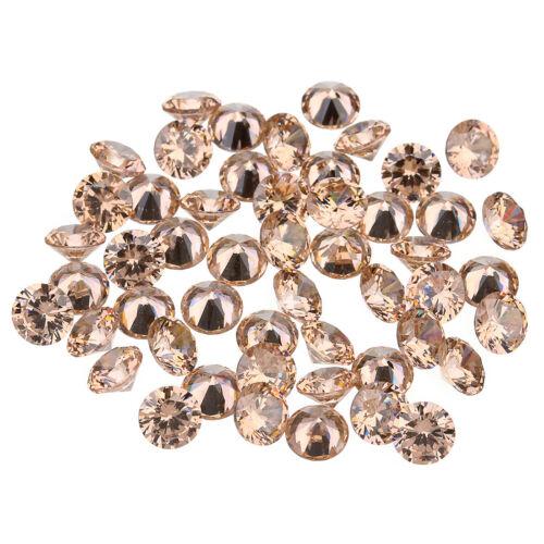 10Pcs Round Cut Zircon Synthetic Gems Simulate Diamond Loose Gemstones 4 5 6mm