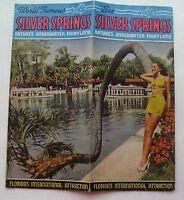 Vintage Travel Brochure For Silver Spring's Florida 1940