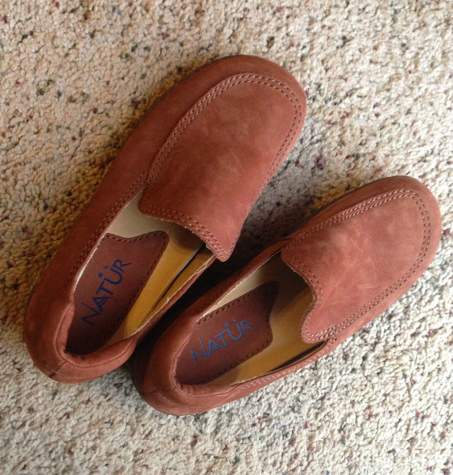 Natur Womens SHOES Sz 6M Brown Rust color SUEDE Leather NEW soft CLASSY