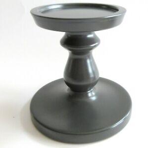 5-inch-Pillar-Candle-Holder-IKEA-Metal-Powder-Coat-Gun-Metal-Gray-USA-Seller