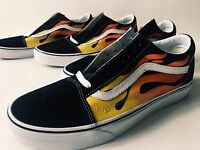 Vans Old Skool Flame [sz 13] Black White Red Low Supreme Wtap Blends Ds Yellow
