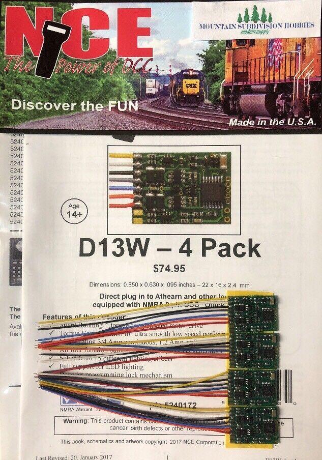 NCE 172 descodificadores de 4 Función Con Cable D13W-4  Paquete De 4  (D13SR) fue modelrrsupply