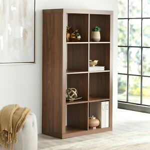 Details about Large 8-Cube Open Storage Organizer Shelves Bookcase, Easy  Assembly, Many Colors