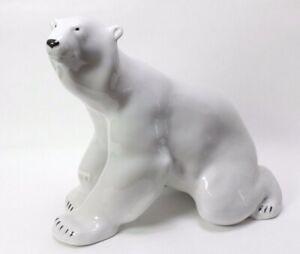 Sculpture Figurine Big Large Polar Bear RUSSIAN Imperial Lomonosov Porcelain