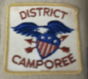 Rare-Vintage-BSA-District-Camporee-1960-039-s-Scout-Patch-Feat-American-Bald-Eagle